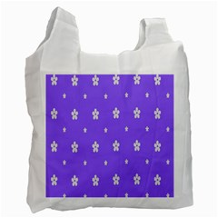Light Purple Flowers Background Images Recycle Bag (one Side) by Alisyart