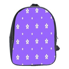 Light Purple Flowers Background Images School Bags(large)  by Alisyart