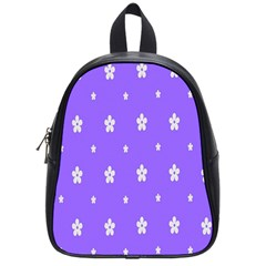 Light Purple Flowers Background Images School Bags (small)