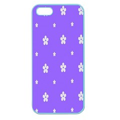 Light Purple Flowers Background Images Apple Seamless Iphone 5 Case (color)