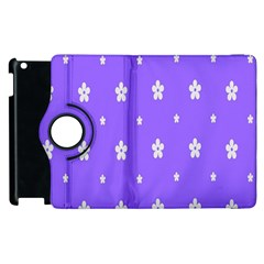 Light Purple Flowers Background Images Apple Ipad 2 Flip 360 Case by Alisyart