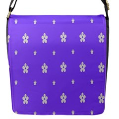 Light Purple Flowers Background Images Flap Messenger Bag (s) by Alisyart
