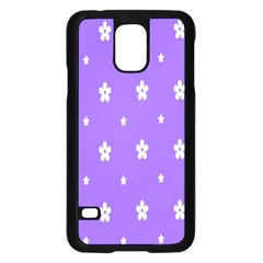 Light Purple Flowers Background Images Samsung Galaxy S5 Case (black) by Alisyart