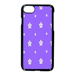 Light Purple Flowers Background Images Apple Iphone 7 Seamless Case (black) by Alisyart