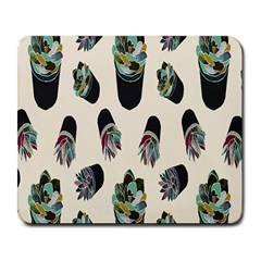 Succulent Plants Pattern Lights Large Mousepads by Simbadda