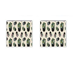 Succulent Plants Pattern Lights Cufflinks (square) by Simbadda