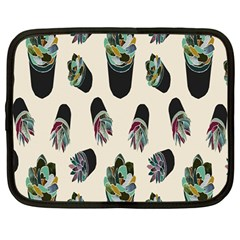 Succulent Plants Pattern Lights Netbook Case (large) by Simbadda