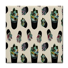 Succulent Plants Pattern Lights Face Towel by Simbadda