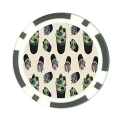 Succulent Plants Pattern Lights Poker Chip Card Guard (10 Pack) by Simbadda