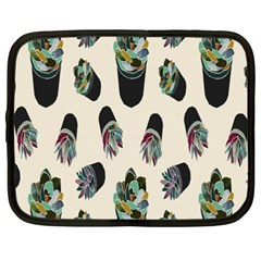 Succulent Plants Pattern Lights Netbook Case (xxl)  by Simbadda