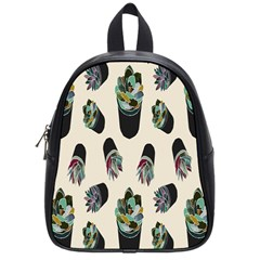 Succulent Plants Pattern Lights School Bags (small)  by Simbadda