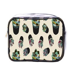 Succulent Plants Pattern Lights Mini Toiletries Bags by Simbadda