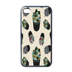 Succulent Plants Pattern Lights Apple Iphone 4 Case (black) by Simbadda