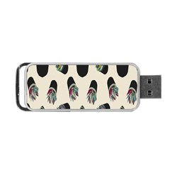 Succulent Plants Pattern Lights Portable Usb Flash (two Sides) by Simbadda