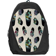 Succulent Plants Pattern Lights Backpack Bag by Simbadda