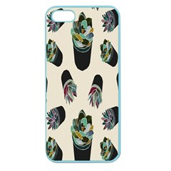Succulent Plants Pattern Lights Apple Seamless Iphone 5 Case (color)