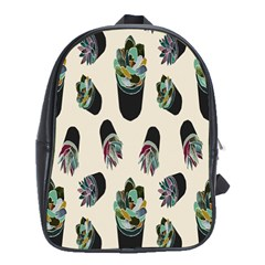 Succulent Plants Pattern Lights School Bags (xl)  by Simbadda