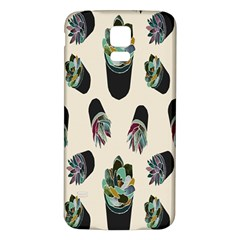 Succulent Plants Pattern Lights Samsung Galaxy S5 Back Case (white) by Simbadda