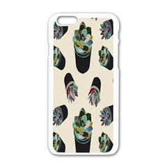 Succulent Plants Pattern Lights Apple Iphone 6/6s White Enamel Case by Simbadda