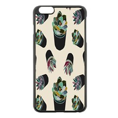Succulent Plants Pattern Lights Apple Iphone 6 Plus/6s Plus Black Enamel Case by Simbadda