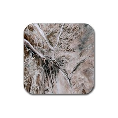 Earth Landscape Aerial View Nature Rubber Square Coaster (4 Pack)