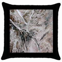 Earth Landscape Aerial View Nature Throw Pillow Case (black)