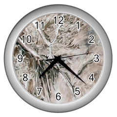 Earth Landscape Aerial View Nature Wall Clocks (silver)