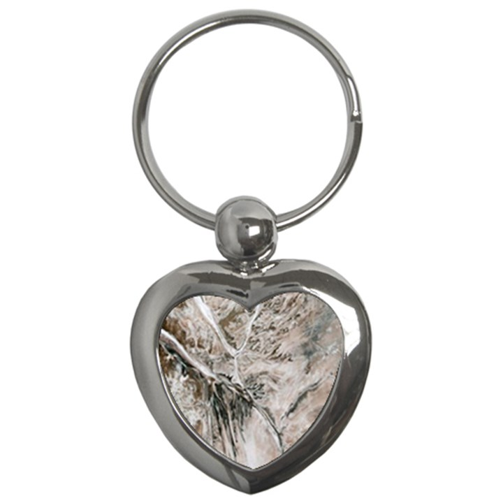 Earth Landscape Aerial View Nature Key Chains (Heart)