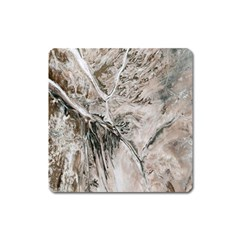 Earth Landscape Aerial View Nature Square Magnet by Simbadda