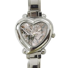 Earth Landscape Aerial View Nature Heart Italian Charm Watch by Simbadda