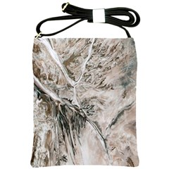 Earth Landscape Aerial View Nature Shoulder Sling Bags by Simbadda