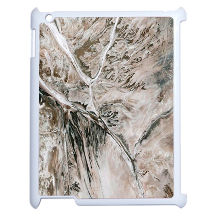 Earth Landscape Aerial View Nature Apple iPad 2 Case (White)