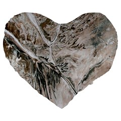Earth Landscape Aerial View Nature Large 19  Premium Flano Heart Shape Cushions