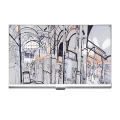 Cityscapes England London Europe United Kingdom Artwork Drawings Traditional Art Business Card Holders by Simbadda