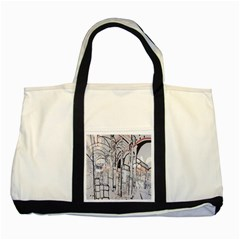 Cityscapes England London Europe United Kingdom Artwork Drawings Traditional Art Two Tone Tote Bag