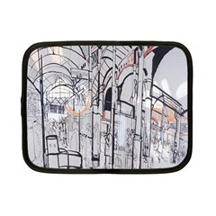 Cityscapes England London Europe United Kingdom Artwork Drawings Traditional Art Netbook Case (small)  by Simbadda
