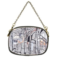 Cityscapes England London Europe United Kingdom Artwork Drawings Traditional Art Chain Purses (two Sides)  by Simbadda