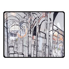 Cityscapes England London Europe United Kingdom Artwork Drawings Traditional Art Fleece Blanket (small)