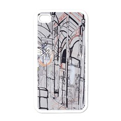 Cityscapes England London Europe United Kingdom Artwork Drawings Traditional Art Apple Iphone 4 Case (white) by Simbadda