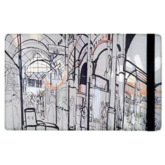 Cityscapes England London Europe United Kingdom Artwork Drawings Traditional Art Apple Ipad 2 Flip Case