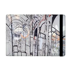 Cityscapes England London Europe United Kingdom Artwork Drawings Traditional Art Apple Ipad Mini Flip Case