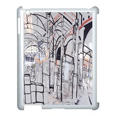 Cityscapes England London Europe United Kingdom Artwork Drawings Traditional Art Apple Ipad 3/4 Case (white) by Simbadda