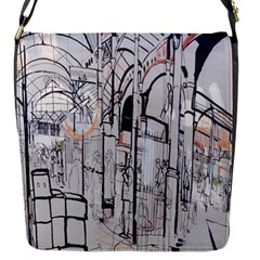 Cityscapes England London Europe United Kingdom Artwork Drawings Traditional Art Flap Messenger Bag (s)