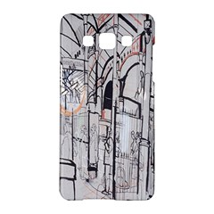Cityscapes England London Europe United Kingdom Artwork Drawings Traditional Art Samsung Galaxy A5 Hardshell Case  by Simbadda