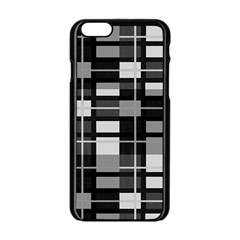 Pattern Apple Iphone 6/6s Black Enamel Case by Valentinaart