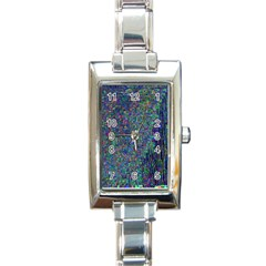 Glitch Art Rectangle Italian Charm Watch