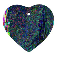 Glitch Art Heart Ornament (two Sides)