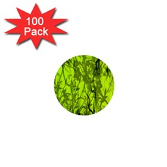 Concept Art Spider Digital Art Green 1  Mini Buttons (100 Pack)  by Simbadda