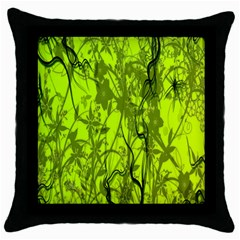 Concept Art Spider Digital Art Green Throw Pillow Case (black) by Simbadda