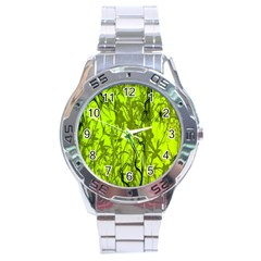 Concept Art Spider Digital Art Green Stainless Steel Analogue Watch by Simbadda